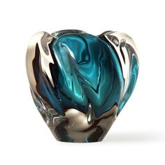 Art Glass Vase, Blue Bud Design, so beautiful, one of over 3,000 limited production interior design inspirations inc, furniture, lighting, mirrors, tabletop accents and gift ideas to enjoy pin and share at InStyle Decor Beverly Hills Hollywood Luxury Home Decor enjoy & happy pinning