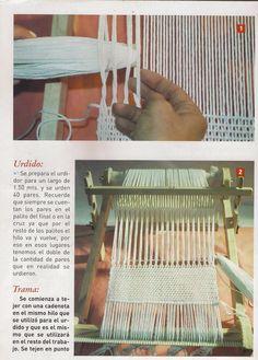 Taller de Ana María: VAINILLA TELAR DE PEINE Más Weaving Projects, Macrame Knots, Weaving Patterns, Loom Weaving, Textiles, Rug Hooking, Knit Crochet, Wall Decor, Rugs