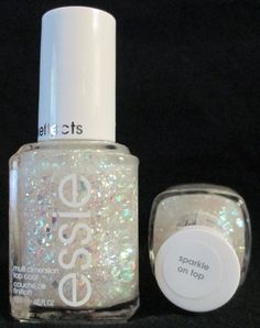 Essie Luxeffects Nail Polish Sparkle On Top #950 Holographic Glitter Top Coat #Essie