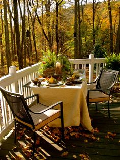 outdoor breakfast on a fall morning...perfection. <3