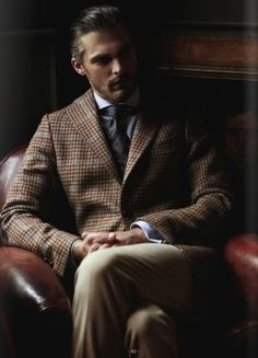 Tweed Coat and Tie