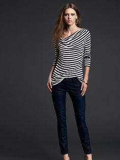 Luna Striped Twist Boatneck