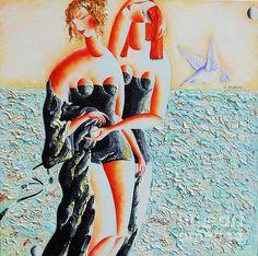 Sea song by Tatjana Krilova Oil Paintings, Oil On Canvas, Original Art, My Arts, Sea, Songs, Times, Wall Art, Summer