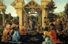 Los Tres Magos de Oriente: Adoración de los Magos de Boticelli