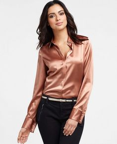 satin blouse top | Flickr - Photo Sharing!