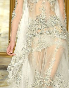 Lovely lace and delicate crystals