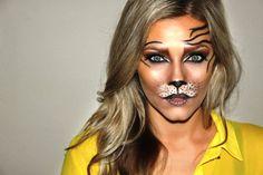 tiger costume makeup - 20 Flawssy Halloween Tiger Makeup to Try Pretty Halloween, Cool Halloween Costumes, Halloween Make Up, Halloween Face Makeup, Infant Halloween, Halloween Ideas, Animal Makeup, Cat Makeup, Deer Makeup