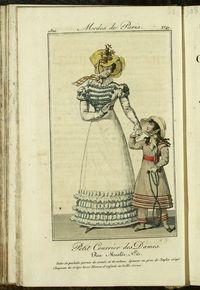 Petit Courrier des Dames : annonces des modes, des nouveautés et des arts del 5 de Mayo de 1822