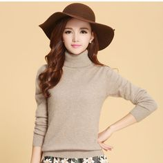 Winter Sweater Women Cashmere Sweaters Fashion Turtleneck Women ...