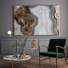 Mineral Photography - (Print # Agate Slab - Choose Fine Art Print or Canvas- Mineral Geode Agate Decor: Wood and Resin geode art Décor Boho, Bohemian Decor, Decorating Your Home, Diy Home Decor, Diy Wall Decor, Gold Wall Decor, Decorating Games, Agate Decor, Boho Home