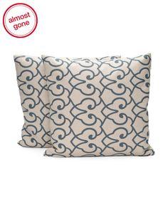 18x18+Two+Pack+Linen+Print+Pillow