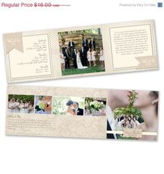 ON SALE Photography Marketing - 5x5 Trifold Brochure Template - 0874FA
