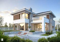 WYJĄTKOWY 3 - nowoczesny dom z pełnym piętrem - Średnie jednopiętrowe domy jednorodzinne murowane, styl nowoczesny - zdjęcie od DOMY Z WIZJĄ - nowoczesne projekty domów