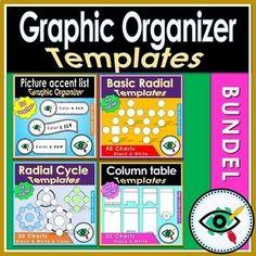 Graphic organizers templates bundle Sixth Grade, Second Grade, Stem Teacher, Table Template, Visual Learning, First Grade Teachers, Class Decoration, Chor, Graphic Organizers