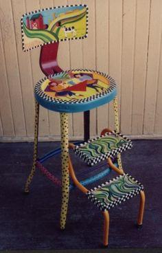 .Metal stool