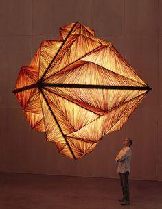 "Aqua's light sculpture ""Pyramid"", winner of the HD Award, Las Vegas"