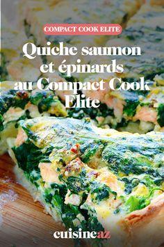 Une bonne idée d'entrée à réaliser au Compact Cook Elite : une quiche au saumon et épinards. #recette #cuisine #quiche #saumon #epinard #robotculinaire #CompactCookElite