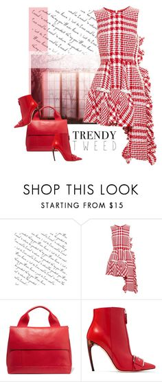 """""""tweed dress"""" by bodangela ❤ liked on Polyvore featuring Simone Rocha, Marni and Alexander McQueen"""