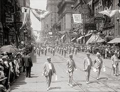 Old Baltimore, Maryland photography.Elk parade, year c 1916.Antique photo art print.