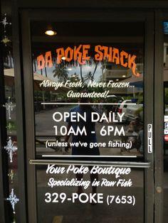 Da Poke Shack in Kailua-Kona, HI, the #1 rated restaurant on Yelp and a favorite of mine as well