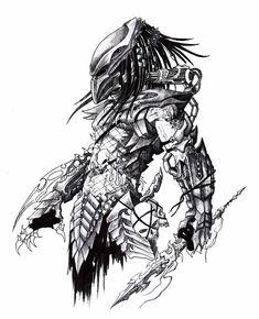 Predator Tattoo, Predator Alien, Predator Cosplay, Arte Ninja, Nature Sketch, Alien Concept Art, Nerd Art, Alien Art, Desenho Tattoo