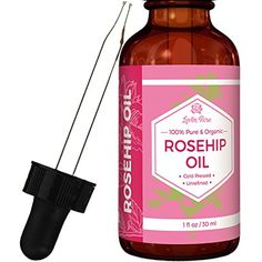 Rosehip Seed Oil by Leven Rose - 100% Pure Organic Unrefined Cold Pressed Anti Aging Moisturizer for Hair Skin