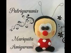 Amigurumi Mariquita - ladybug - YouTube