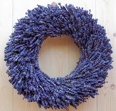 Dried lavender wreaths are a wonderful and pretty way to enjoy the soothing fragrance of dried lavender in your home. We make each lavender wreath with gorgeous indigo blue lavender flowers. French Lavender, Lavender Fields, Lavender Color, Lavender Flowers, Dried Flowers, Beautiful Flowers, Lilac, Lavender Crafts, Lavender Wreath
