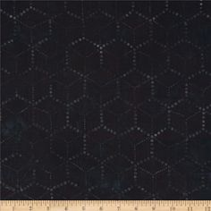 Artisan Batiks Concerto Honeycomb Black from @fabricdotcom  Designed by Lunn Studios for Robert Kaufman, this Indonesian batik is perfect for quilting, apparel and home décor accents. Colors include charcoal and black.