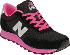 New Balance WL501 - Black/Pink - Free Shipping & Return Shipping - Shoebuy.com