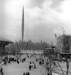 The Skylon, British festival (Festival of Britain in 1951) amazing art installation from 1951.