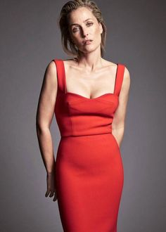 Gillian Anderson posing for Edit Magazine's January 2016 Issue...
