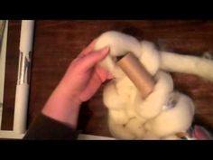 diy wool roving bump blanket