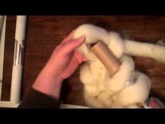 How to knit with wool roving - YouTube