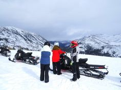 Vista Verde ranch guests enjoy snowmobiling excursions off-property