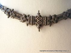 tribal antique silver woven rajasthani belt early by ObjetsduMonde, $950.00
