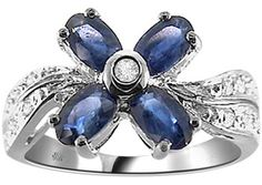 1.60 Carat Flower Sapphire & Diamond Ring SOLD OUT - Fashion