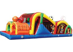 obstacle game sports theme: Bounce House For Sale Games For Little Kids, Funny Games For Kids, Games For Fun, Inflatable Obstacle Course, Inflatable Water Park, Bouncy House, Event Planning Business, 4 Kids, Outdoor Fun