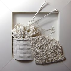 "*Paper Sculpture - ""Knitting"" by Lusi Klimenko"