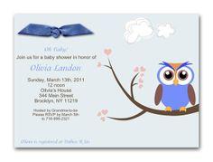 My Sweet Dreams Baby - Baby Boy Owl Shower Invitation (http://www.mysweetdreamsbaby.com/owlbabyshowerinvitations.htm)