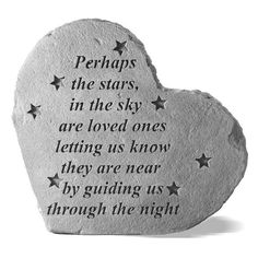 Perhaps The Stars In The Sky Heart Shaped Memorial Stone | from hayneedle.com