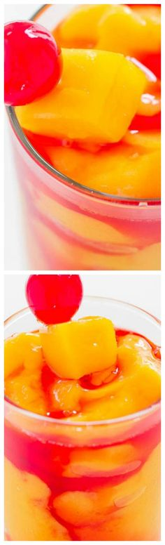 Kiss Me On The Lips Cocktail ~ This frozen drink is quick and easy, fruity, tropical-tasting, and the colors are so fun.