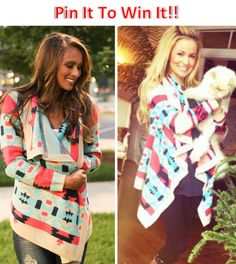 PIN IT TO WIN IT!!! Bonfire Cardigan from The Pink Lillie Boutique.
