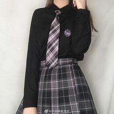 Old Fashion Dresses, Kpop Fashion Outfits, Korean Outfits, Kawaii Fashion, Cute Fashion, Cute Casual Outfits, Pretty Outfits, School Uniform Outfits, School Uniforms