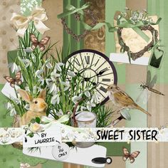 Digital Scrapbook Kit - Sweet Sister