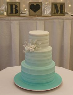 ombre wedding cakes | Mint Green Ombre Wedding Cake