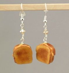 polymer clay food charms | Miniature-Polymer-Clay-Food-Jewelry-Grilled-Cheese-Sandwich-Earrings