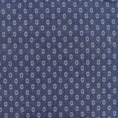 Tissu Chambray fantaisie étoilé x 10cm