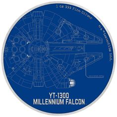 Star Wars coin series heads up into space with the Millennium Falcon blueprint - AgAuNEWS