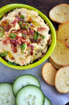 Bacon Scallion Hummus    Ingredients:  4 slices bacon  1 (15-oz.) can chickpeas, drained and rinsed  1/3 cup tahini (sesame paste)  2 Tablespoons fresh lemon juice  2 garlic cloves, chopped  ¼ cup water water  2 Tablespoons chopped scallions (green and white parts), plus additional for garnish  ¼ teaspoon black pepper  1 teaspoon salt